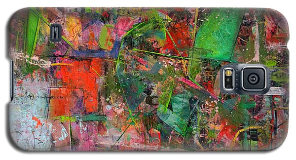 Galaxy S5 Case featuring the painting Abstract #101614 by Robert Anderson