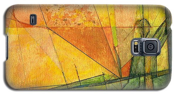 Galaxy S5 Case featuring the painting Abstract #11 by Robert Anderson