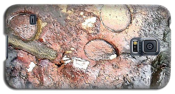 Galaxy S5 Case featuring the digital art abstract 2317 Moonscape Pottery by Kae Cheatham