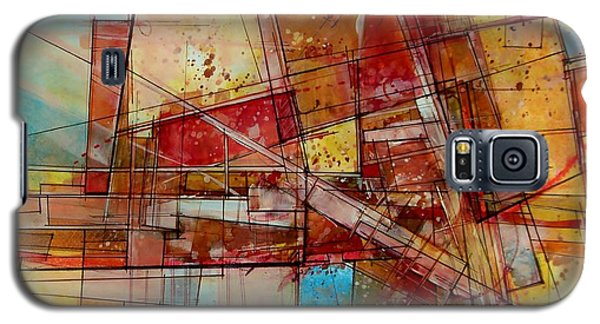 Galaxy S5 Case featuring the painting Abstract #240 by Robert Anderson