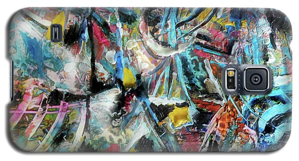 Abstract 301 - Encaustic Galaxy S5 Case