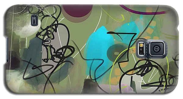 Galaxy S5 Case featuring the painting Abstract #31315 by Robert Anderson
