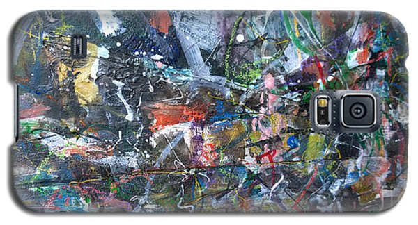 Galaxy S5 Case featuring the painting Abstract #69 - Revised by Robert Anderson