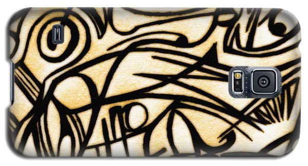 Abstract Art Gold 2 Galaxy S5 Case by Sumit Mehndiratta