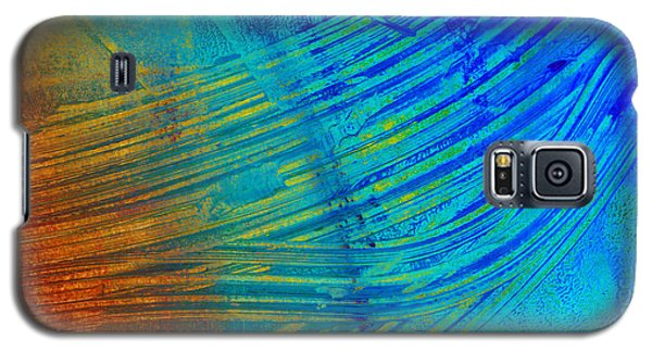 Abstract Art  Painting Freefall By Ann Powell Galaxy S5 Case by Ann Powell