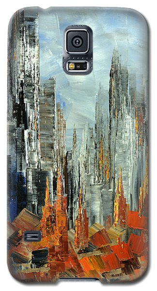 Galaxy S5 Case featuring the painting Abstract Autumn by Tatiana Iliina