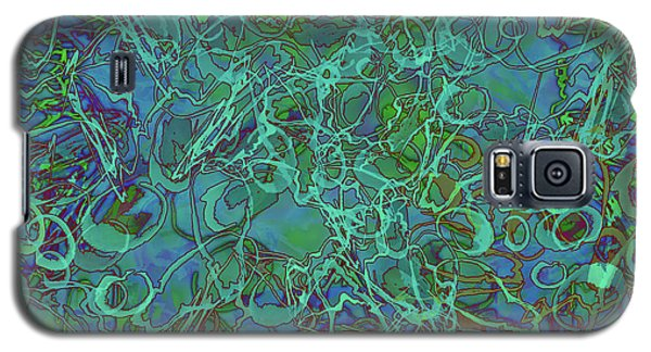 Abstract Azurite Galaxy S5 Case