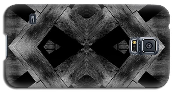 Galaxy S5 Case featuring the photograph Abstract Barn Wood by Chris Berry