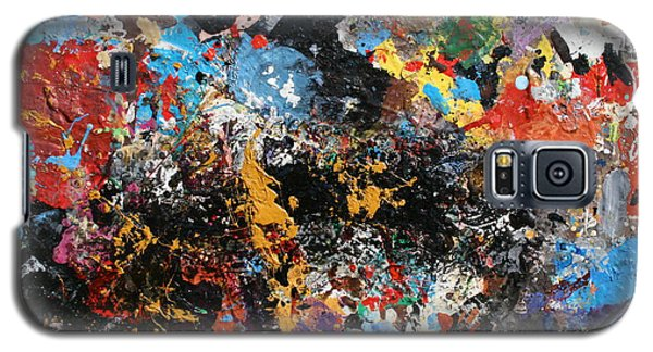 Galaxy S5 Case featuring the painting Abstract Blast by Melinda Saminski