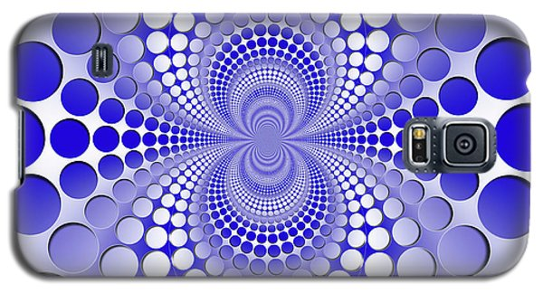 Galaxy S5 Case - Abstract Blue And White Pattern by Vladimir Sergeev