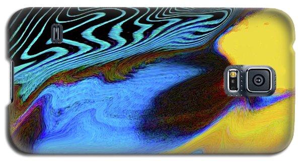 Abstract Blue Bird Feather Galaxy S5 Case