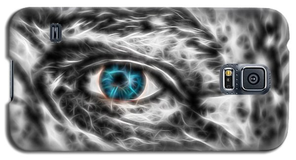 Galaxy S5 Case featuring the photograph Abstract Blue Eye by Scott Carruthers