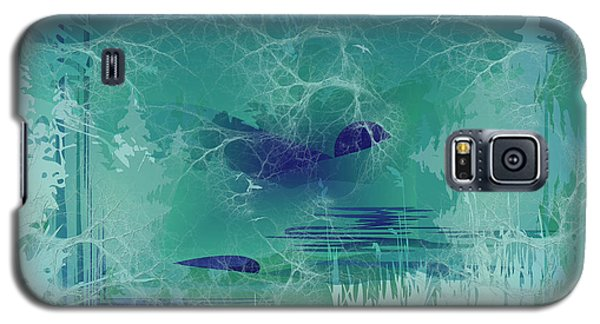 Abstract Blue Green Galaxy S5 Case
