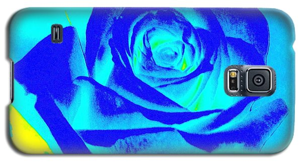 Single Blue Rose Abstract Galaxy S5 Case