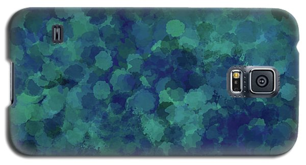 Galaxy S5 Case featuring the mixed media Abstract Blues 1 by Clare Bambers