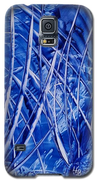 Abstract Blues Encaustic Galaxy S5 Case