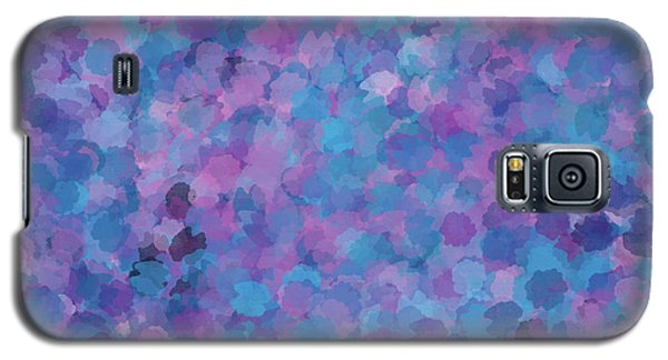 Galaxy S5 Case featuring the mixed media Abstract Blues Pinks Purples 3 by Clare Bambers
