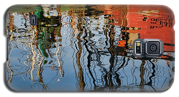 Abstract Boat Reflections Iv Galaxy S5 Case