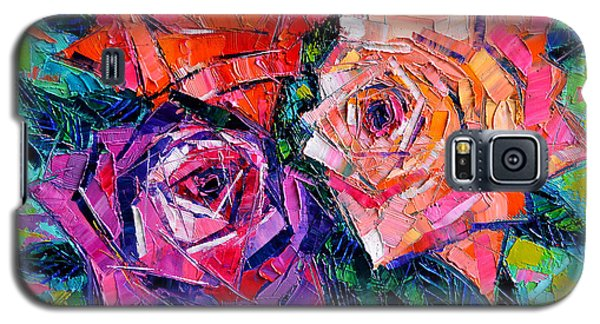 Abstract Bouquet Of Roses Galaxy S5 Case