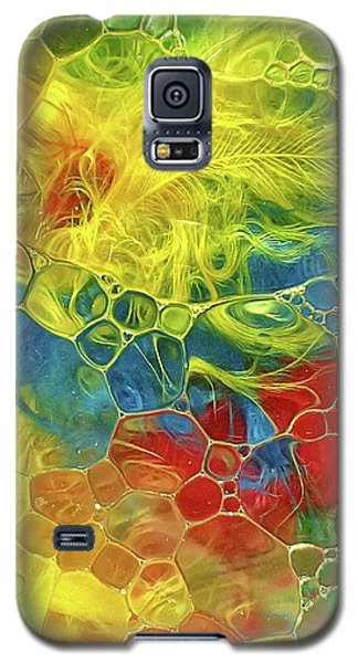 Abstract Bubble Feathers Galaxy S5 Case