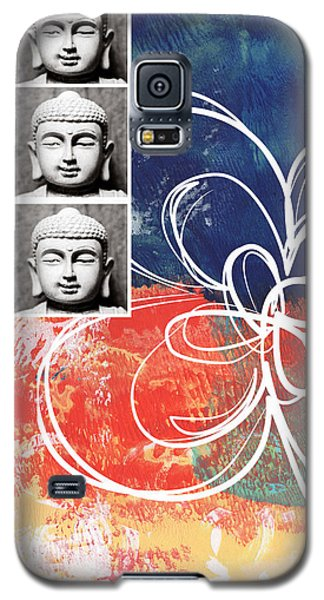 Religious Galaxy S5 Case - Abstract Buddha by Linda Woods