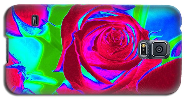 Burgundy Rose Abstract Galaxy S5 Case
