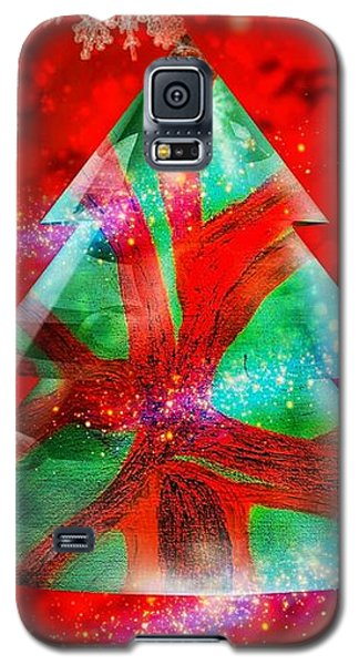 Abstract Christmas Bright Galaxy S5 Case