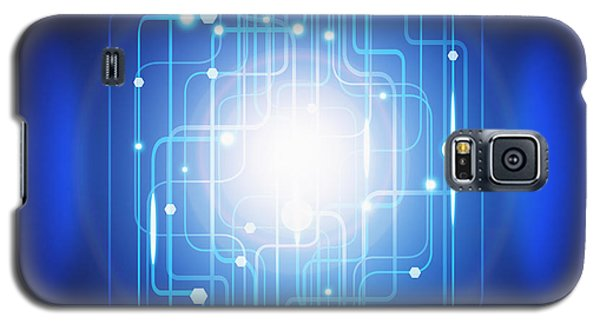 Abstract Circuit Board Lighting Effect  Galaxy S5 Case