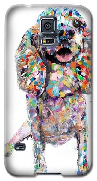 Abstract Cocker Spaniel Galaxy S5 Case