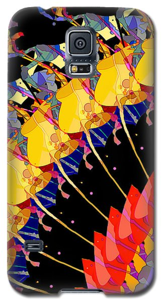 Galaxy S5 Case featuring the digital art Abstract Collage Of Colors by Phil Perkins