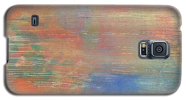 Galaxy S5 Case featuring the painting Abstract Confetti 3 by Paula Brown