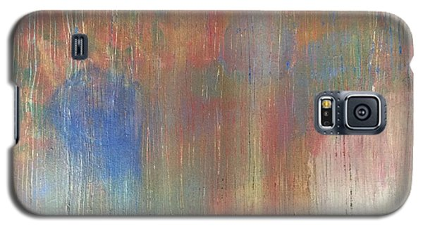 Galaxy S5 Case featuring the painting Abstract Confetti 4 by Paula Brown