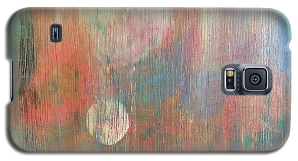 Galaxy S5 Case featuring the painting Abstract Confetti by Paula Brown