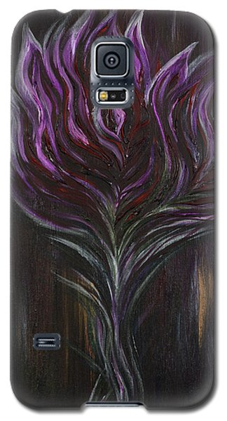 Abstract Dark Rose Galaxy S5 Case