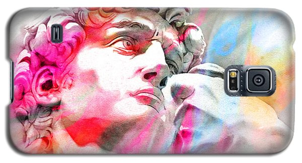 Galaxy S5 Case featuring the painting Abstract David Michelangelo 4 by J- J- Espinoza
