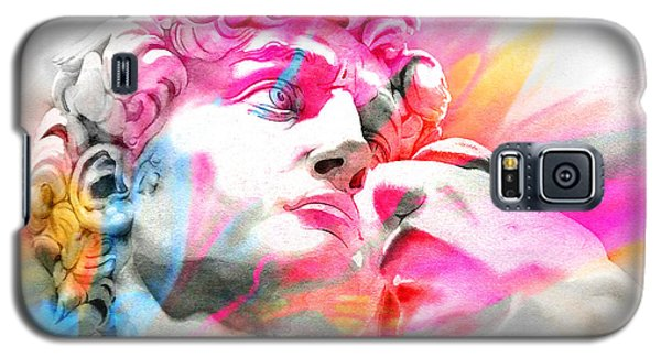 Galaxy S5 Case featuring the painting Abstract David Michelangelo 5 by J- J- Espinoza
