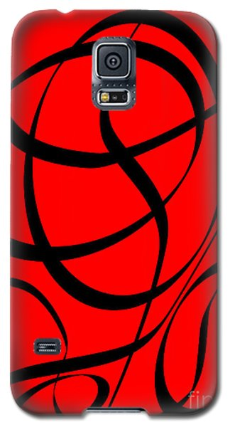 Abstract Design In Red And Black Galaxy S5 Case