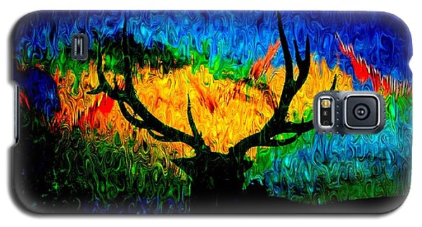 Abstract Elk Scenic View Galaxy S5 Case