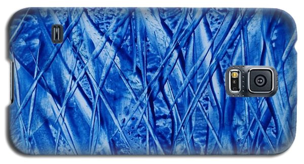 Abstract Encaustic Blues Galaxy S5 Case
