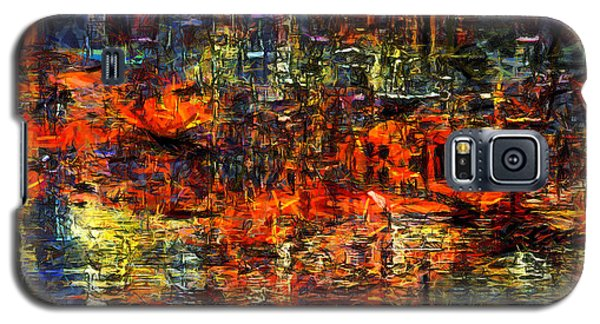 Abstract Evening Galaxy S5 Case