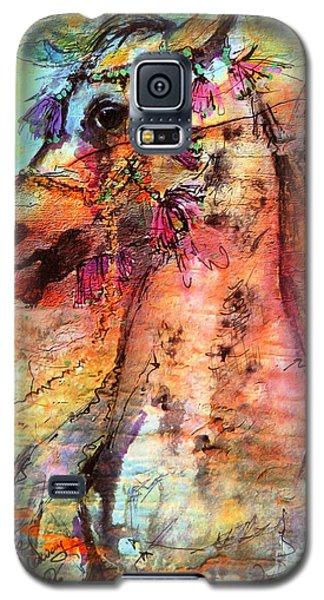 Abstract Expressive Arabian Stallion Art Galaxy S5 Case