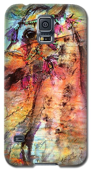 Abstract Expressive Arabian Stallion Art Galaxy S5 Case by Ginette Callaway