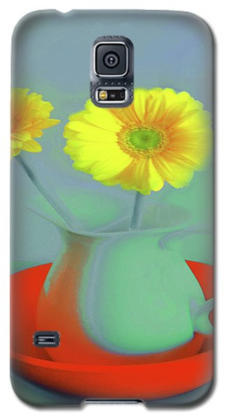 Abstract Floral Art 301 Galaxy S5 Case
