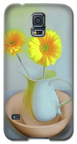 Abstract Floral Art 302 Galaxy S5 Case