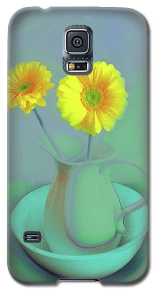 Abstract Floral Art 305 Galaxy S5 Case