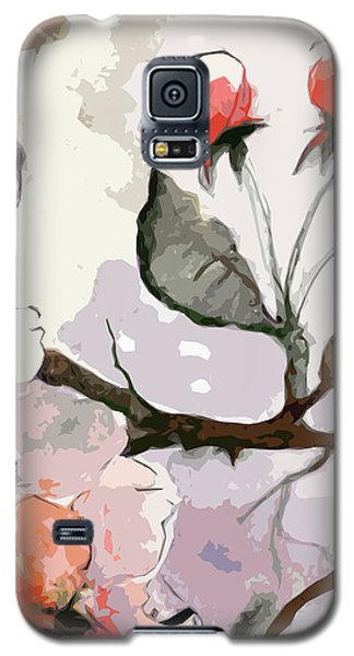 Abstract Floral Art Pink Blossoms 2 Galaxy S5 Case