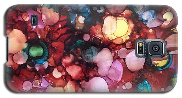 Abstract Floral Galaxy S5 Case by Suzanne Canner