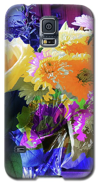 Abstract Flowers Of Light Series #7 Galaxy S5 Case