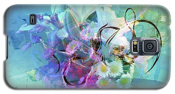 Abstract Flowers Of Light Series #9 Galaxy S5 Case