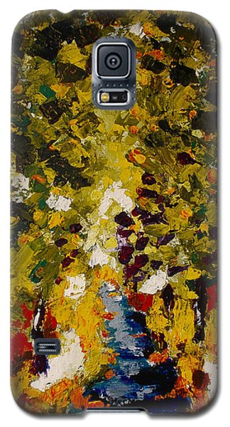 Galaxy S5 Case featuring the painting Abstract Forest #1 by Zeke Nord